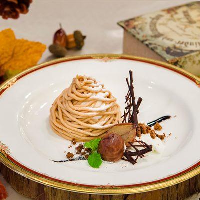 秋の味覚を楽しめる3種のプチガトーが登場